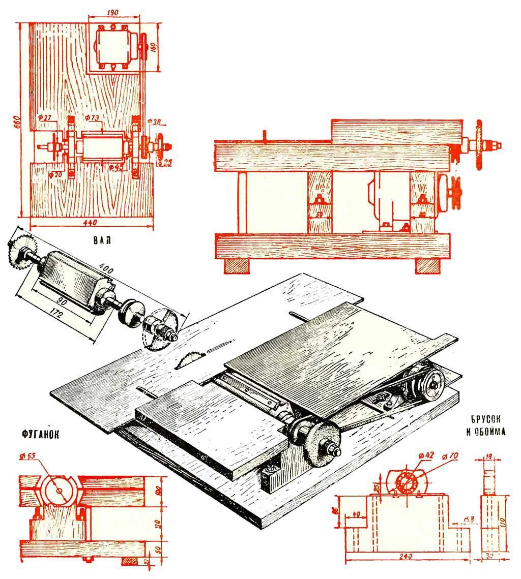 Самодельный фуговальный станок: эскиз, основные этапы изготовления