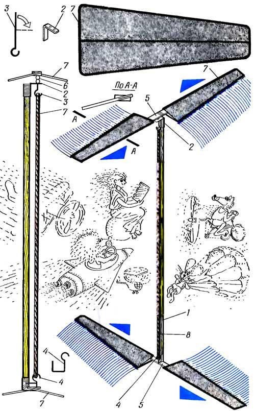 Как сделать самолёт из бумаги на резиномоторе